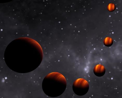 Recreación de las diferentes fases del planeta extrasolar. / 'Nature'