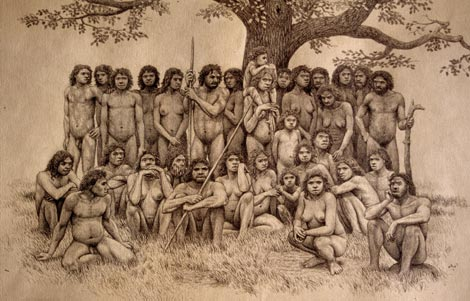 Familia de 'Homo heilderbergensis'. / Mauricio Antón