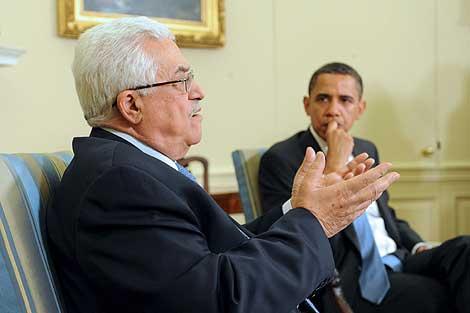 Imagen de la reunión entre Obama y Abu Mazen. | Efe