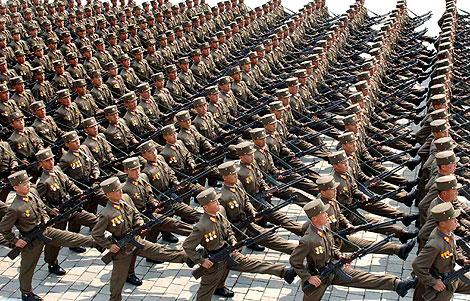 Despliegue en Pyongyang del Ejército norcoreano. | Afp