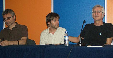 De izquierda a derecha, David B, Paco Roca y Miguel Gallardo.