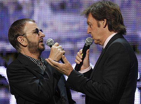 Ringo Starr y Paul McCartney. | Ap