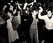 Celebración de la victoria socialista en 1982.