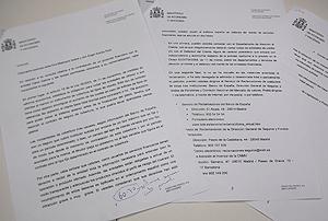 Carta remitida por Economía a Eva y su novio.