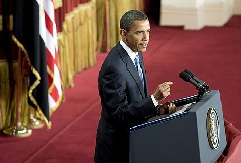 Obama, durante su intervención en El Cairo.   AP