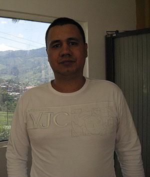 'Pedro Fronteras', en la entrevista en la cárcel de Itagüí. (Foto: S. H.-M.)