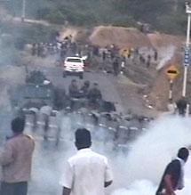 Enfrentamientos con la policía. AFP