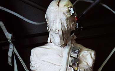 El maniquí 'Matrioshka', durante su estancia en la Estación Espacial. | ISS