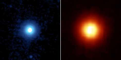 La estrella Vega y su anillo polvoriento.   NASA, Spitzer