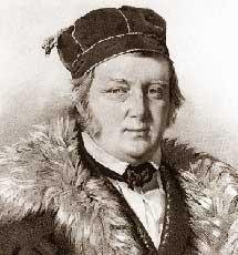 Wilhelm Struve.   Litografía de H. Mitreuter, Enciclopedia Británica