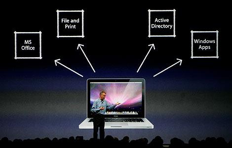 Bertrand Serlet, vicepresidente de Apple para OS X, presenta Snow Leopard. | AP