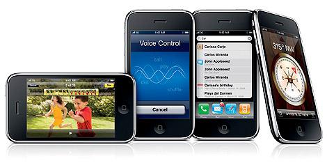 Varias imágenes del nuevo iPhone 3GS.   Reuters