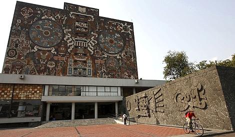 Imagen de la Biblioteca Central de la UNAM. | Foto: Efe