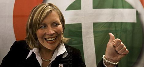 La futura eurodiputada, Krisztina Morvai. | Efe