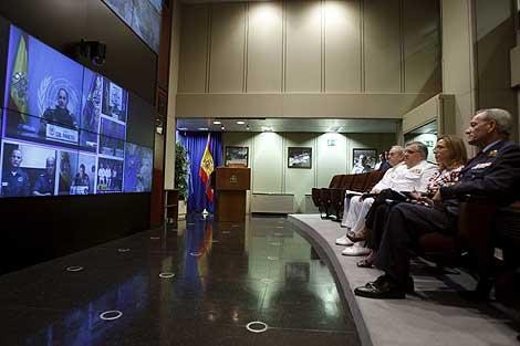 Momento de la videoconferencia. | Efe