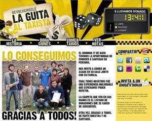 Página web creada en apoyo del taxista.