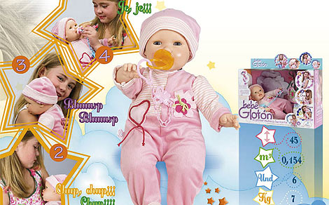 El 'Bebé Glotón', primer muñeco lactante | Berjuan