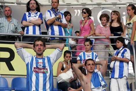 La victoria del equipo albiazul no bastó y el drama se desató en las gradas. | Nuria González