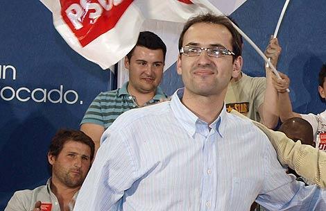 El secretario de Juventudes Socialistas, Sergio Gutiérrez, en un acto reciente en Toledo. | EFE