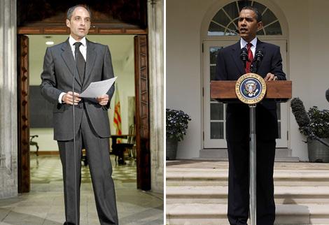 Francisco Camps y Barack Obama. | Fotos: Efe | Reuters