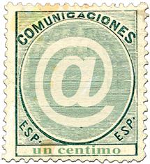 Un sello de 2003 dedicado a la popular arroba. | EL MUNDO