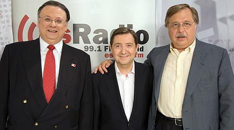 César Vidal, Jiménez Losantos y Luis Herrero. (Foto: Fernando Díaz / Libertad Digital)