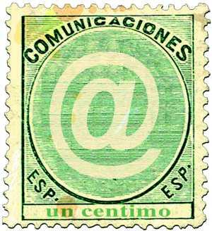 Sello de correos dedicado al símbolo 'arroba' (Foto:Parejo)