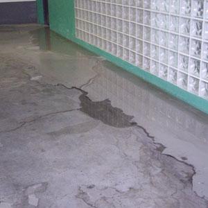 Imagen de las filtraciones de agua.   Antonio Guasp