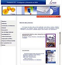 Web de la Fundación IES que vincula al hospital Carlos III.