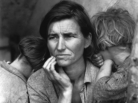 Fotografía 'Migrant Mother'. California, 1936. © Dorothea Lange