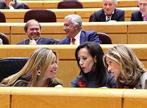 La ministra de Vivienda (c), Beatriz Corredor, en el Senado | Antonio Heredia
