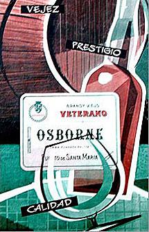 Un cartel de Veterano de los años 50.