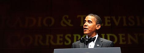 Barack Obama, en un discurso ante periodistas de radio y televisión en Washington. | AFP