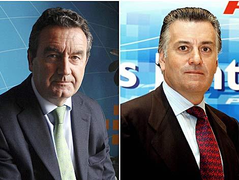 El diputado Jesús Merino y el tesorero del PP Luis Bárcenas. | Efe