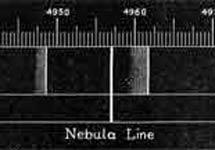 El espectro de la nebulosa de Orión por Huggins y Huggins. | B. J. Becker
