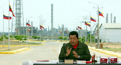 Hugo Chávez, durante una emisión del programa 'Aló, presidente'