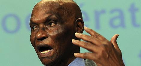 Abdoulaye Wade, durante la rueda de prensa.  Ap