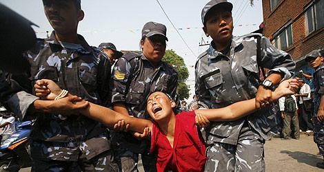 Represión policial en el Tíbet.| EFE