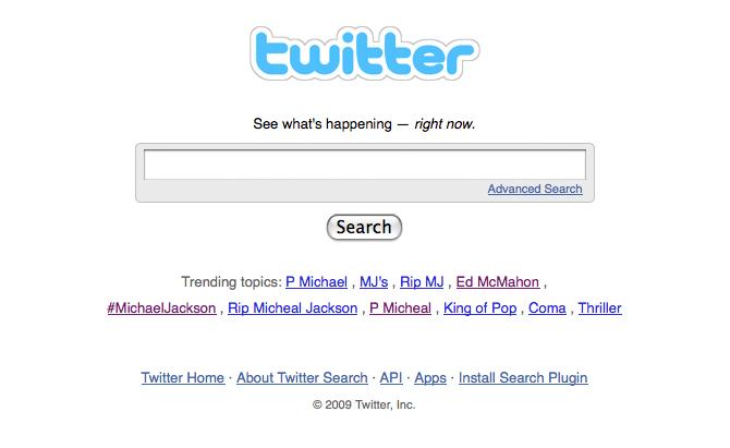 Nueve de los diez término más repetidos en Twitter fueron sobre el fallecimiento.