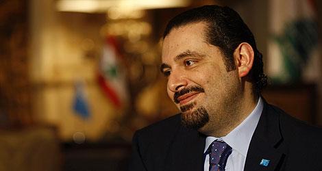 Saad Hariri, durante una entrevista en Beirut.   AFP