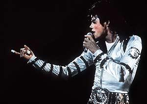 Michael Jackson, en un concierto en Berlín (Foto: AFP).