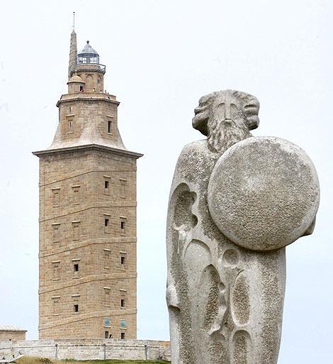 La Torre de Hércules, en A Coruña. | Efe