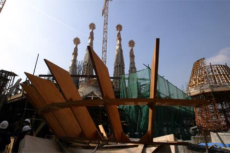 Obras de remodelación del interior del templo. | Joan Manuel Baliellas