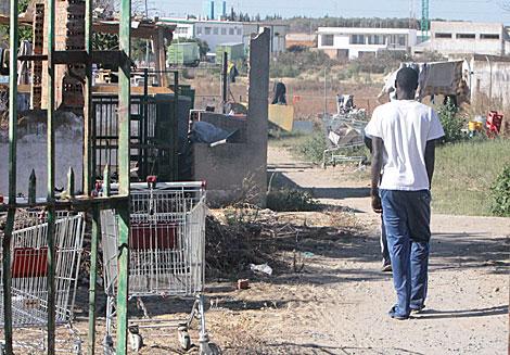 El asentamiento de inmigrantes de El Corchuelo, en Lepe.| José Carlos