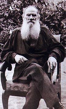 El escritor Lev Tolstói
