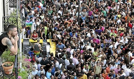 La plaza de Chueca, el día que se leyó el pregón. | Diego Sinova