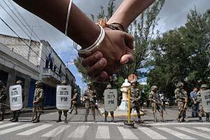 Un grupo de manifestantes Foto: José Cabezas