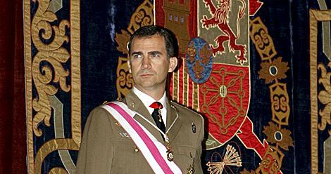 El Príncipe, durante un acto de la Real y Militar Orden de San Hermenegildo. | Efe