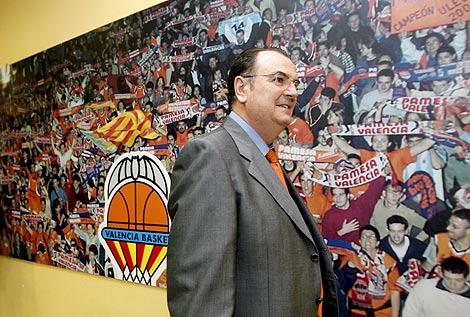 El nuevo presidente del Valencia Basket, Vicente Solá. | Efe