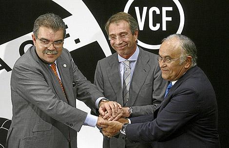 Juan Soler, Vicente Soriano y Vicente Silla. | Miguel Ángel Polo